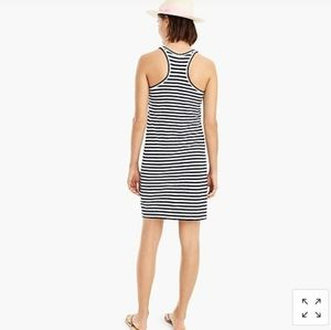 J.crew Racerback Tank Knit Dress in Stripe